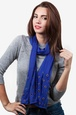 Royal Blue Polyester Oasis Scarf