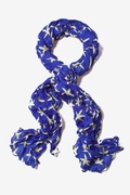 Starfish Royal Blue Scarf by Scarves.com