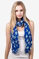 Royal Blue Polyester Starfish Scarf