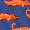 Royal Blue Silk Mini Alligators