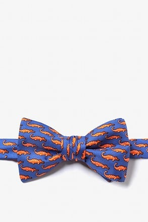 Mini Alligators Royal Blue Self-Tie Bow Tie