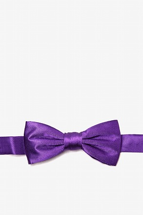 _Royal Purple Bow Tie For Boys_