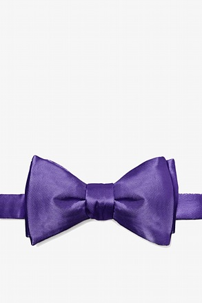 Royal Purple Butterfly Bow Tie