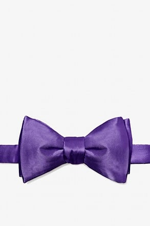 _Royal Purple Self-Tie Bow Tie_