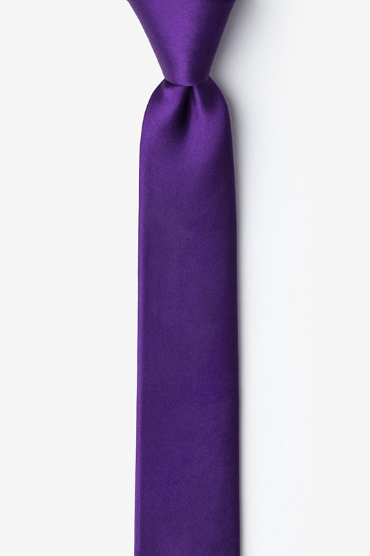 Royal Purple Tie For Boys Photo (0)