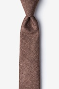 Rust Cotton Yuma Skinny Tie
