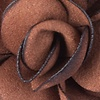 Rust Felt Blooming Flower Lapel Pin