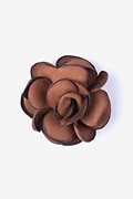 Blooming Flower Rust Lapel Pin Photo (0)