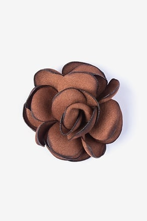 _Blooming Flower Rust Lapel Pin_