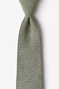 Sage Cotton Nixon Extra Long Tie