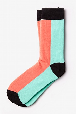 _Fullerton Split Salmon Sock_