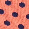 Salmon Carded Cotton Power Dots Sock