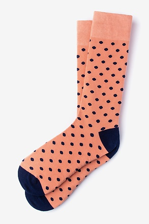 _Power Dots Salmon Sock_