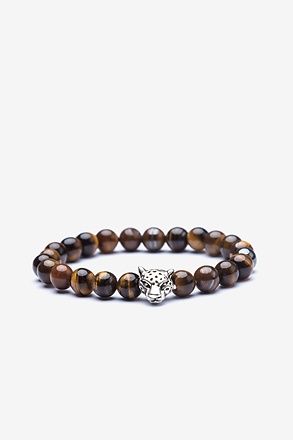 Cheetah Head Silver Bracelet