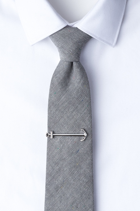 Anchor Silver Tie Bar