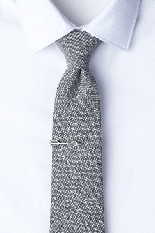 Arrow Silver Tie Bar Photo (1)