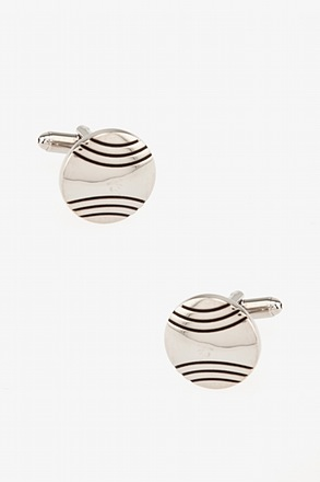 _Baseball Inspired Silver Cufflinks_