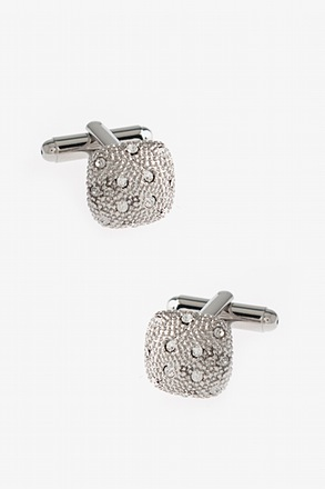 Bejeweled Rounded Square Cufflinks
