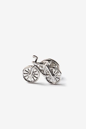 _Bicycle Silver Lapel Pin_