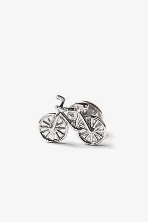 Bicycle Silver Lapel Pin