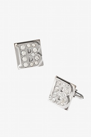 Blinged Out B Cufflinks
