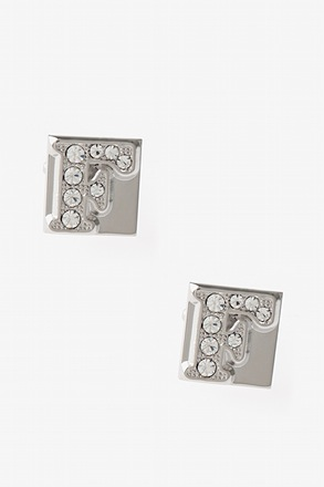 Blinged Out F Cufflinks