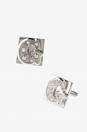 Blinged Out G Cufflinks