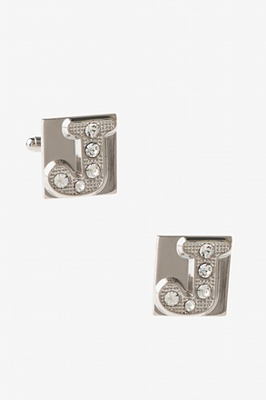 Blinged Out J Cufflinks