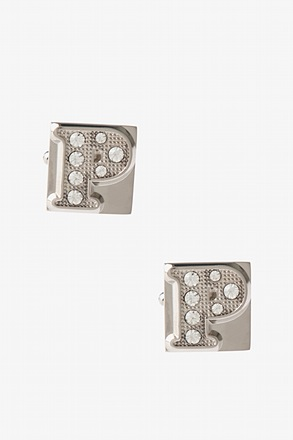 Blinged Out P Cufflinks