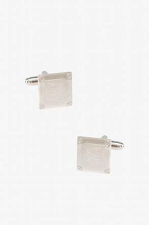 _Bolted Square Cufflinks_