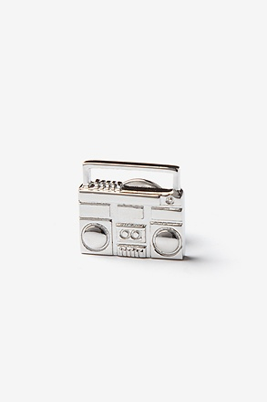 _Boombox Silver Lapel Pin_