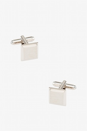 _Brushed Rounded Edges Cufflinks_