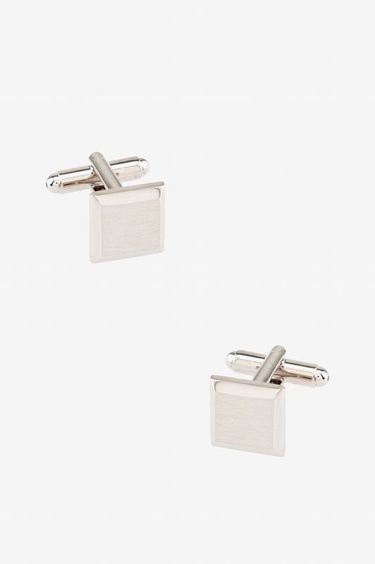 Brushed Rounded Edges Cufflinks