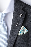 Caduceus Silver Lapel Pin