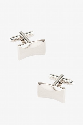 Carved Rectangle Cufflinks