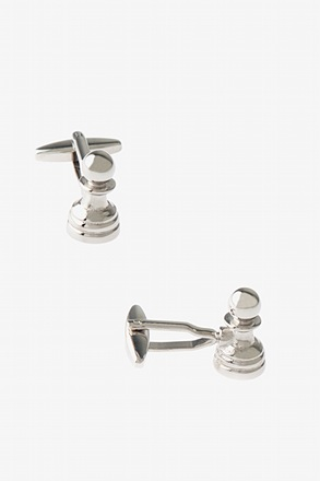 Chess Pawn Silver Cufflinks