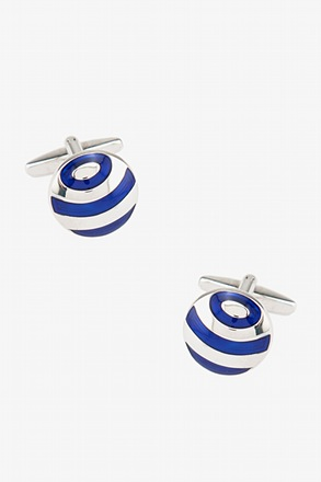 Circled Globe Round Cufflinks