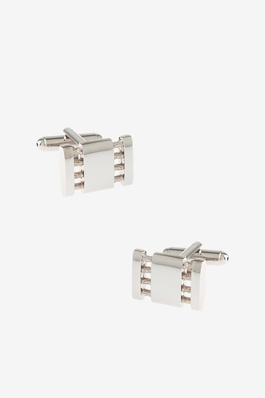 Connected Parts Silver Cufflinks Photo (0)