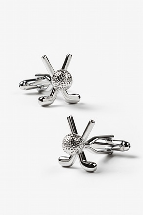 Crossed Golf Clubs Cufflinks