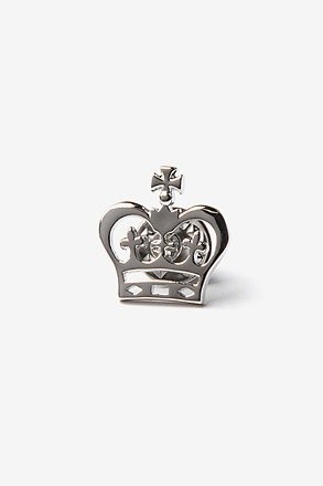 _Crown Silver Lapel Pin_