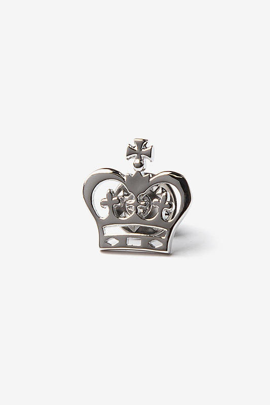 Crown Silver Lapel Pin Photo (0)
