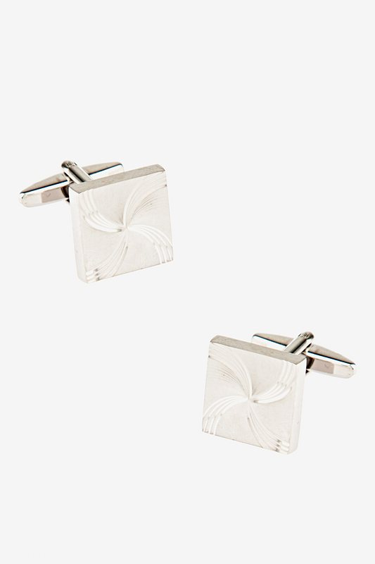 Curved Pinwheel Cufflinks