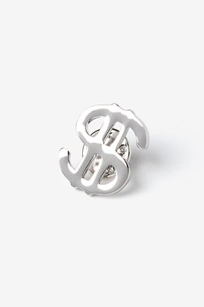 _Dollar Sign Silver Lapel Pin_