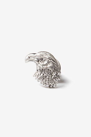_Eagle Head Silver Lapel Pin_