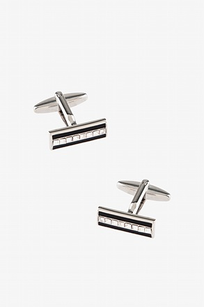 Elegance Bar Silver Cufflinks