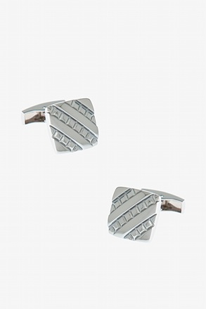 _Embossed Square Cufflinks_