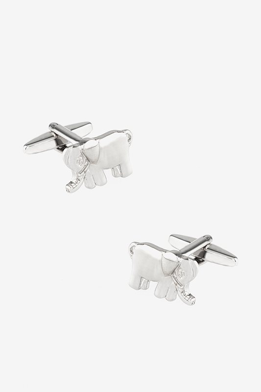 Enchanted Elephant Silver Cufflinks Photo (0)