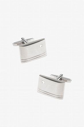 _Engraved Rectangle Cufflinks_