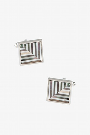 Feather Inlay Cufflinks