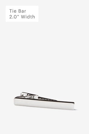Flat Brushed Silver Tie Bar